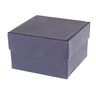 Simple Cubic Paper Watch Box (Navy)