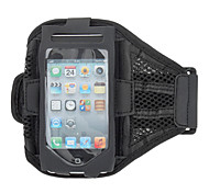 Stylish Black Reticular Gym Sports Armband Pouch Case with Arm Strap Holder for iPhone 5/5S