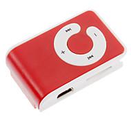 Tarjeta TF MP3 Player con lector de Bolsa de clip rojo y blanco