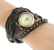 Women's Spirally-Wound Leather Band Quartz Analog Bracelet Watch (Assorted Colors) Cool Watches Unique Watches