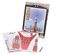 50 Pieces DIY Paper 3D Puzzle Tokyo Tower