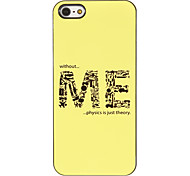 The Formation of ME Pattern PC Hard Case with 3 Packed HD Screen Protectors for iPhone 5/5S