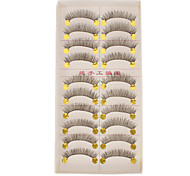 Hand-made Natural False Upper Eyelashes 252