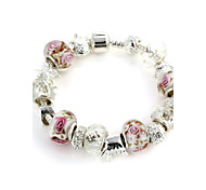 Sweet 6.3cm Women's white Crystal Strand Bracelet(1 Pc)
