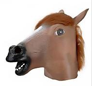 Máscara Light Brown Gran Cabeza de caballo del estilo del látex de cara para la fiesta