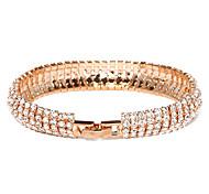 Victoria cristal tchèque plaqué or bracelet de bracelet