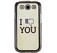 Screw You Pattern Mirror Smooth Back Hard Case with HD Screen Film 3 Pcs for Samsung Galaxy S3 I9300