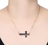 Rivet Cross Pendant Necklace