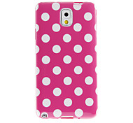 Spots Pattern TPU Soft Protective Back Case Cover for Samsung Galaxy Note3 N9000