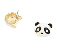 Black/White Panda Stud Earrings