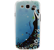 Long-Skirt Lady Pattern Plastic Protective Hard Back Case Cover for Samsung Galaxy S3 I9300