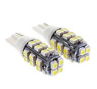 T10 1W 28x3528SMD 70LM 6000K Cool White Light LED Bulb for Car (12V,2 pcs)