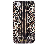 Stylish Leopard Print Pattern Smooth Anti-shock Case with Black Frame for iPhone 4/4S