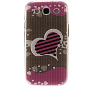 Hearts Pattern Plastic Protective Hard Back Case Cover for Samsung Galaxy S3 I9300