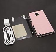 Pochette in pelle Skin Horse + Stylus Pen + HD dello schermo Film + Cavo USB + Caricabatteria per Samsung N9000 Nota3