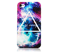 Starry Sky Embossment Pattern Transparent Frame Back Case for iPhone 4/4S