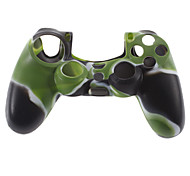 Silicone Skin Case and 2 Black Thumb Stick Grips for PS4 (Hunter Green)