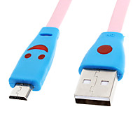 Micro USB 2.0 to USB 2.0 M/M Lighting Cable Pink(1M)