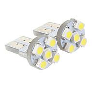 T10 5x3528SMD Cool White Light LED Bulb for Car (12V,2 pcs)