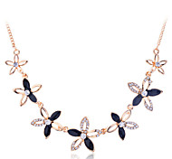 Lureme®Fashion Five Petal Flowers Necklace