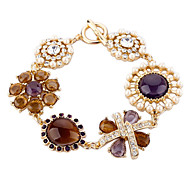 European Alloy Yellow Flower Bracelet