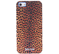 Fashionable Leopard Print Pattern Brown Smooth Anti-shock Case for iPhone 5/5S