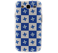Blue and White Windmill Pattern Plastic Protective Hard Back Case Cover for Samsung Galaxy S3 I9300