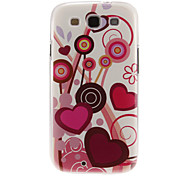 Cirrus Hearts Pattern Plastic Protective Hard Back Case Cover for Samsung Galaxy S3 I9300