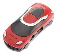 TF carro em forma Leitor MP3 Car Jogador Forma Vermelho