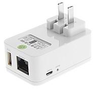 Tenda el 150M 3G Wi-Fi portátil Router cargador Sync para iPhone / iPad (EE.UU. Plug, 5V 1A)