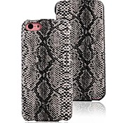 Hot Sales Charm Snakeskin PU Leather Case Turned Down for iPhone5C Microfiber Inside