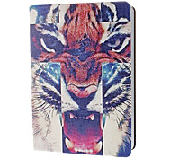 Blusterous Tiger Coloured Drawing Pattern PU Leather Case with Stand for iPad Air