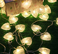10m Heart Shaped 38-LED String Lightfor Spring Festival Wedding Celebration Decoration