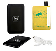 Black Wireless Power Charger Pad + USB Cable + Receiver Paster(Gold) for Samsung Galaxy S4 I9500