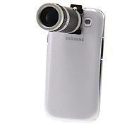 8X Zoom Telescope Lens with Back Transparent Case Cover for Samsung Galaxy S3 9300