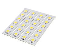 DIY 1W 6x5050SMD 30-60LM 3000-3500K Luz Cool Blanco Junta PCB LED (12V)