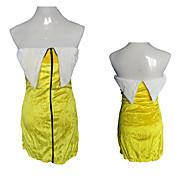Costume da sveglio Banana ragazza Yellow Velvet Donne