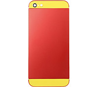 Red Metal Alloy Back Battery Housing with Yellow Glass For iPhone 5