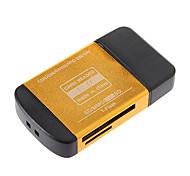 Todo en uno USB 2.0 lector de tarjetas de memoria (Rojo / Negro / Púrpura / oro)