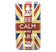 Keep Calm and Carry On The UK Flag Pattern Back Cover Hard Case for HTC One X