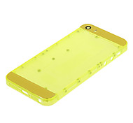 Yellow Hard Plastic Back Battery Housing with Yellow Glass For iPhone 5s