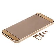 Alliage Champagene métal dur Retour boîtier de la batterie avec des boutons et verre or pour l'iPhone 5s