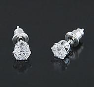 Simple Zircon Stud Earrings