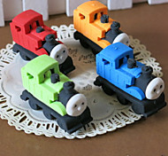 Cartoon Design Train Shaped Eraser(Random Color,4 PCS)