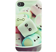 Schöne Cartoon Marshmallow Muster Matte Designed PC Hard Case für iPhone 4/4S