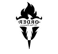 Harry Potter Orden del tatuaje Phoenix Cosplay para la pintura del arte de cuerpo no tóxico e insípido cosplay accesorios etiqueta Cuerpo