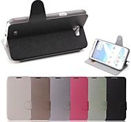Voor Samsung Galaxy Note Kaarthouder / met standaard / Flip hoesje Volledige behuizing hoesje Effen kleur PU-leer Samsung Note 2