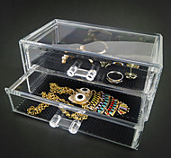 Acrylic Transparent Double Layer Drawer Jewlery Storage Box