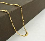 Vintage Golden Titanium Steel Ball Chain Necklace