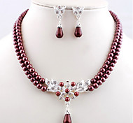Wedding Pearl Jewelry et(Earring & Necklace)